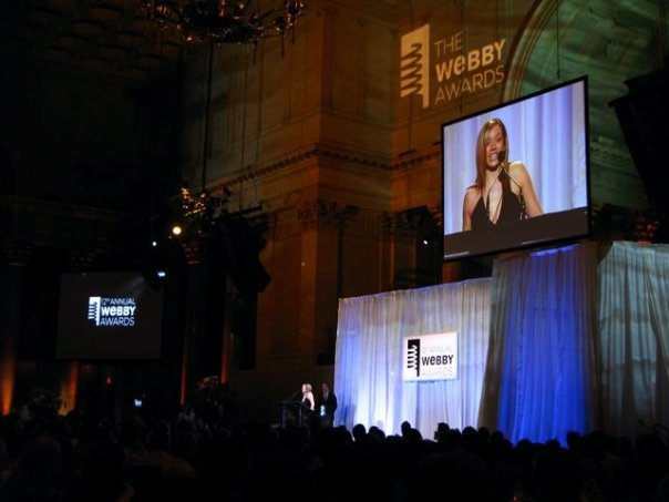 Tammy accepting Webby...